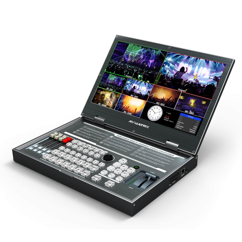 AVMATRIX Kompakt Videomischer PVS0615 15.6 Zoll Bildschirm