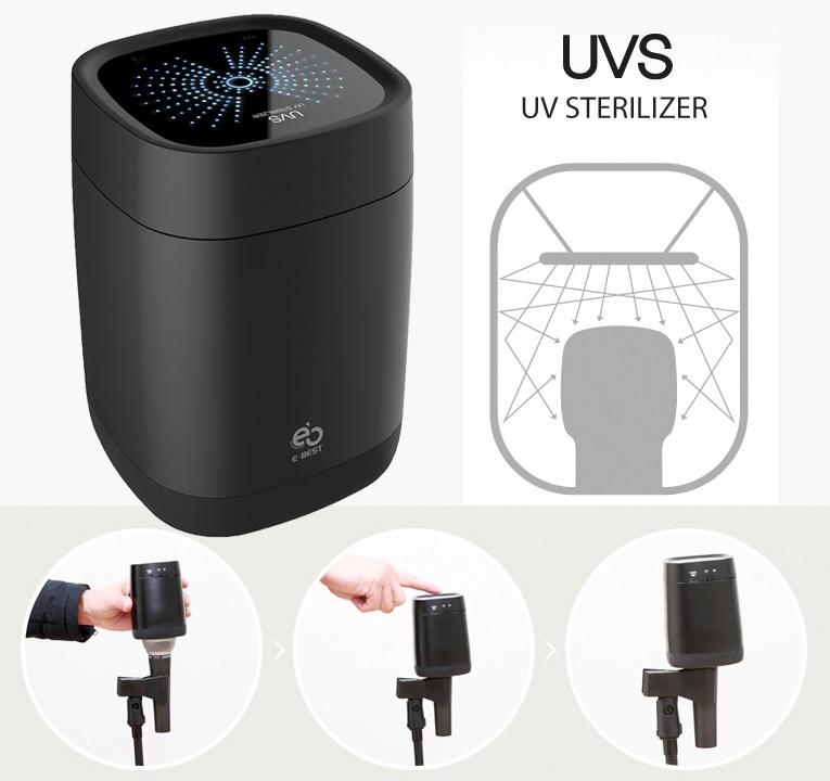 UV und Ionen Steriliserer für Mikrofone