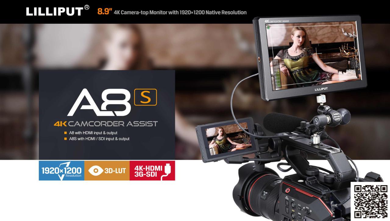 Lilliput A8S 4K able SDI HDMI monitor 8.9 inch