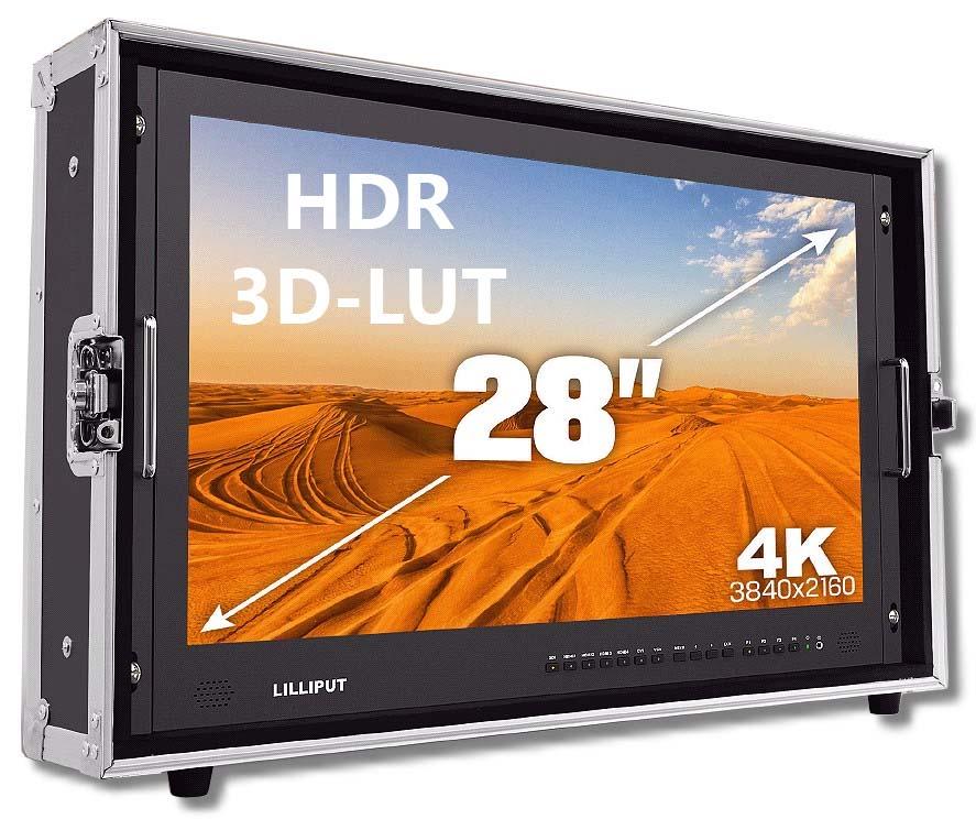 Lilliput 28 Zoll 4K HDR Monitor mit HDMI SDI VGA bis 3840x2160 50Hz BM280-4KS