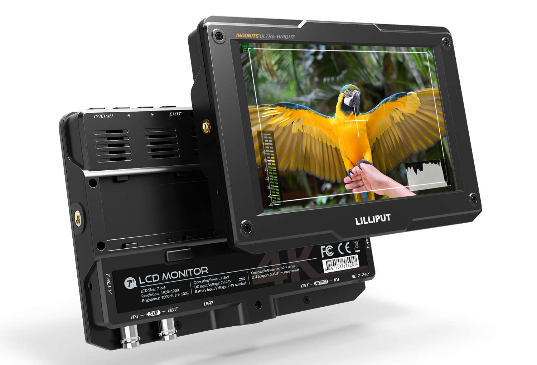 Lilliput H7S 7 Zoll 4K fähiger HDMI und SDI Monitor High Brightness 1800 nits