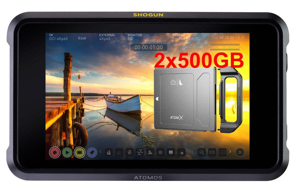 Artikelfoto Atomos Shogun 7 Komplettpaket inkl. 2 x 500GB SSD