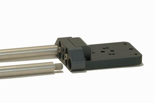 Foto DVTEC EngRig Vlock Leichtstütze mit 15mm Aluminium Rod