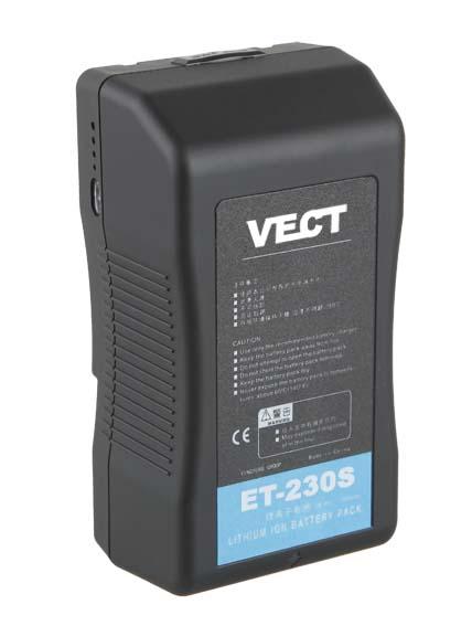 Foto VECT ET-230S 230Wh 14.8V Li-Ion Kameraakku V-Mount