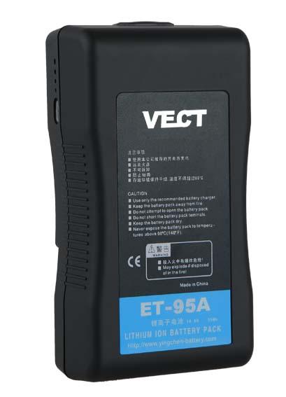 Artikelfoto VECT ET-95A 95Wh 14.8V Akku Anton Bauer Typ