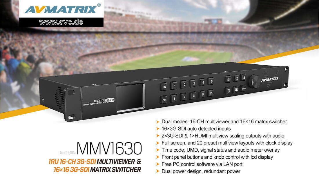 Artikelfoto AVMATRIX Multiviewer und Matrix Umschalter MMV1630