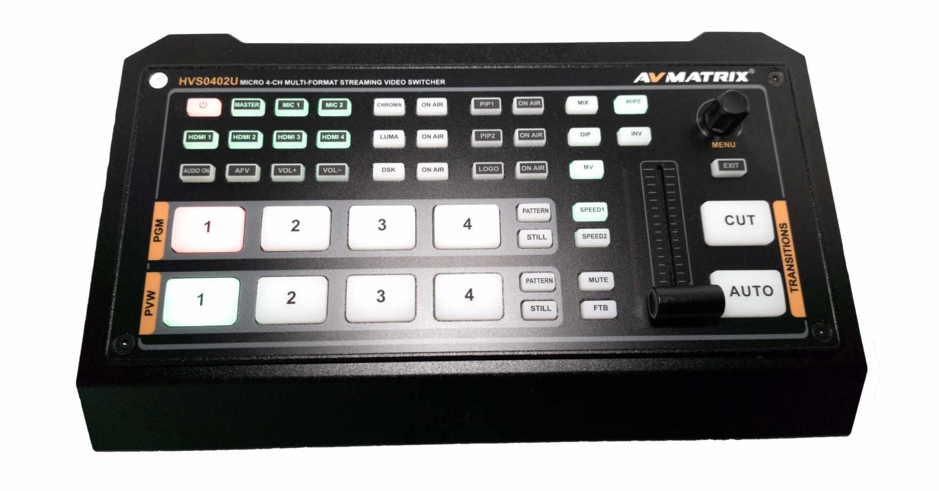 Artikelfoto AVMATRIX 4-Kanal Streaming Videomischer HVS0402U
