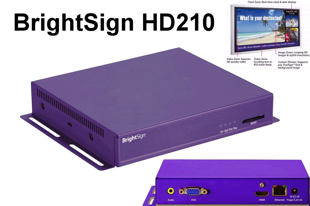 Foto Roku Brightsign HD210 MediaPlayer ( Gebrauchtgeräte )
