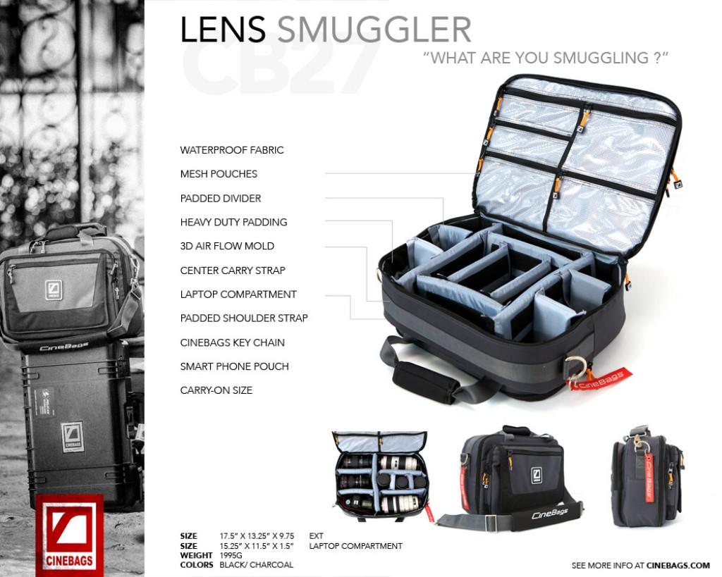 Artikelfoto Cinebags CB27 Lens Smuggler - Tasche für Kameragehäuse und Optiken