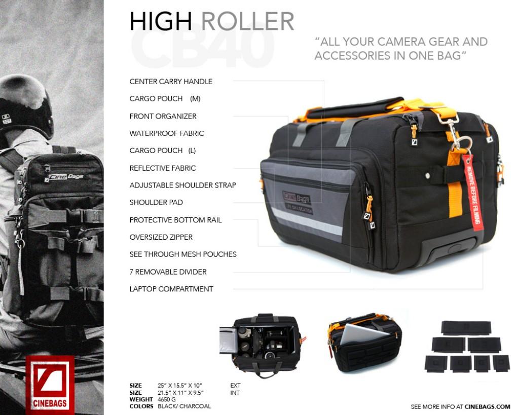 Artikelfoto Cinebags CB40 HIGH ROLLER - Kameratasche mit Rollen