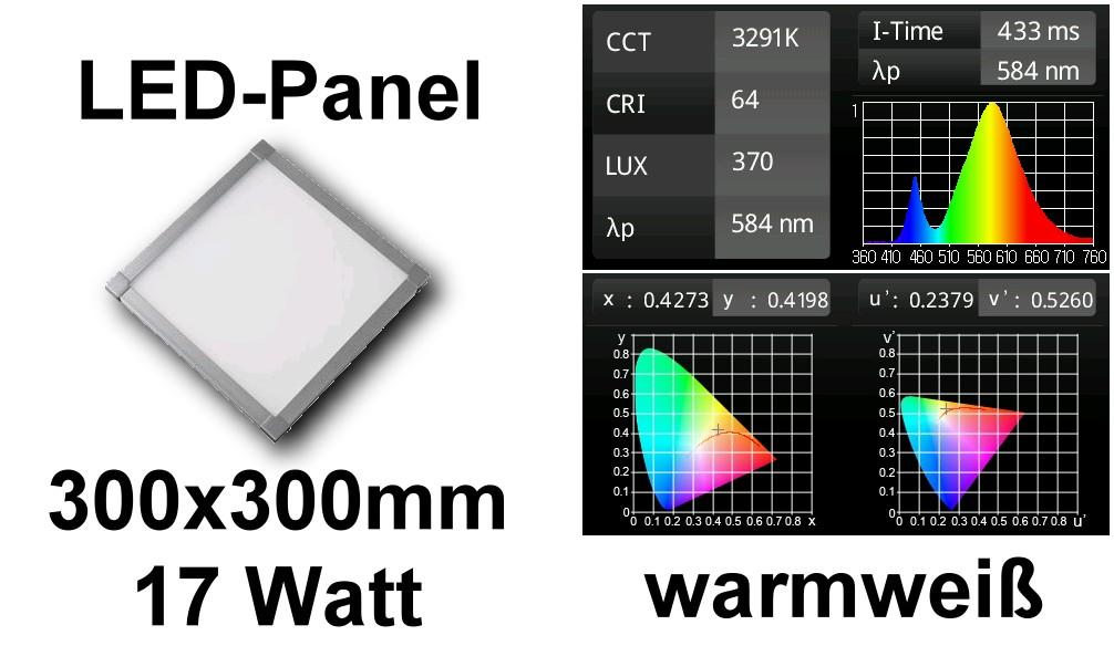 Foto LED PANEL LIGHT  60Leds SMD3535 30x30cm Warm White