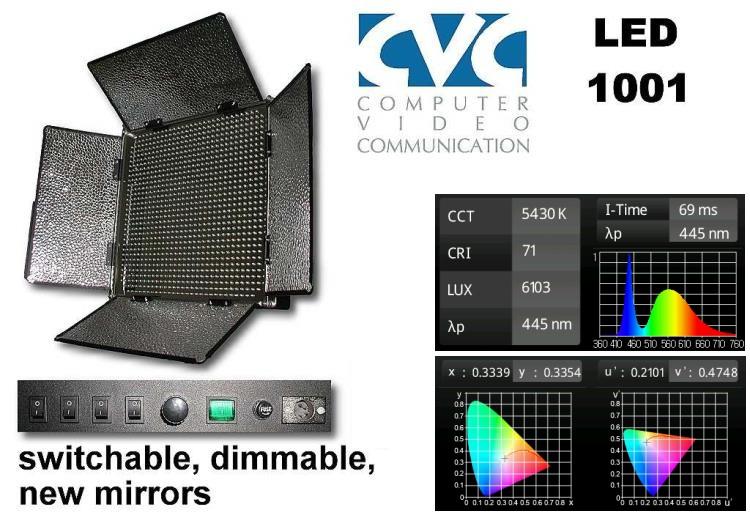 Foto FineVideo LED Flächenleuchte 5400K LED1000 DMX Foto und Video dimmbar