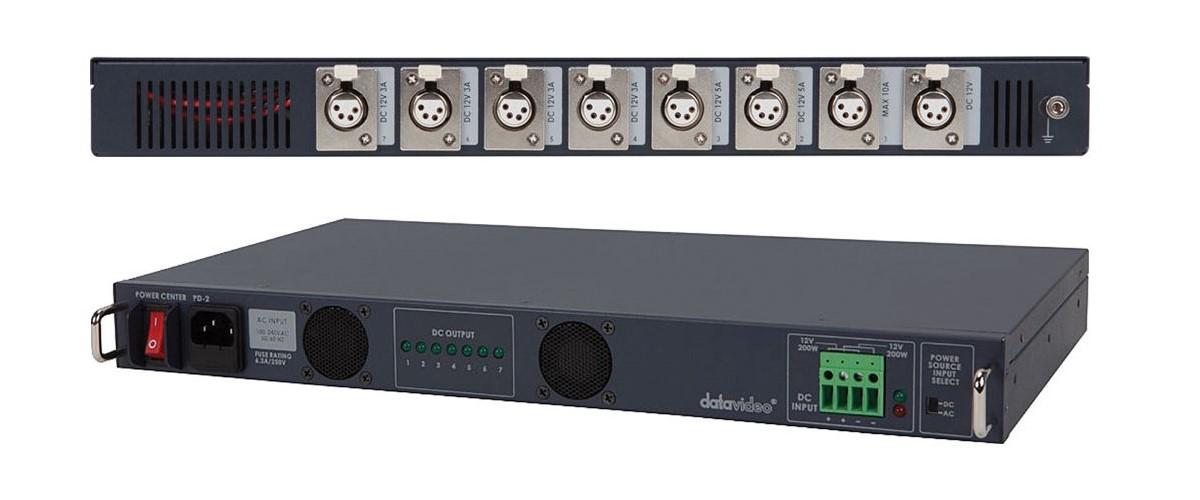 Foto datavideo Universal Stromversorgung PD-2 für 12-48 Volt XLR Rack-Geräte