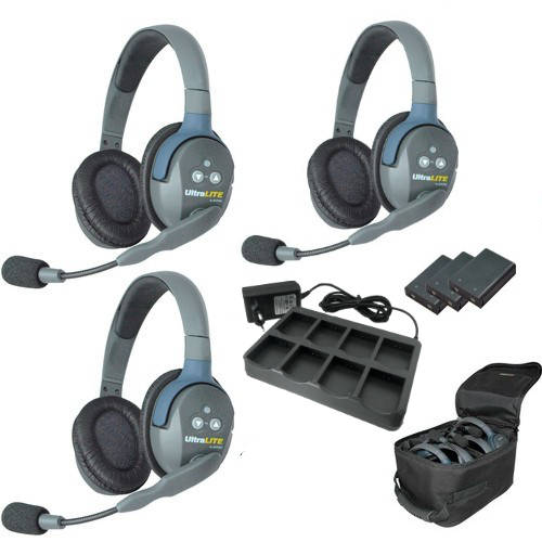 Artikelfoto EARTEC Wireless Intercom UltraLITE Double 3 HeadSets UL3D