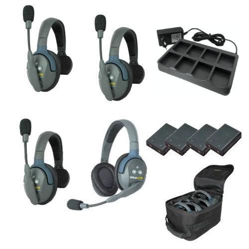 Artikelfoto EARTEC Wireless Intercom UltraLITE Single 4 HeadSets UL431