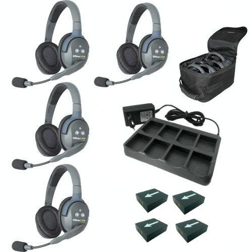 Artikelfoto EARTEC Wireless Intercom UltraLITE Double 4 HeadSets UL4D