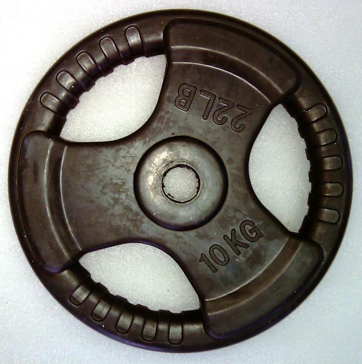 Artikelfoto 1 Krangewicht 10 Kg 30mm Bohrung Vollflächig gummiert