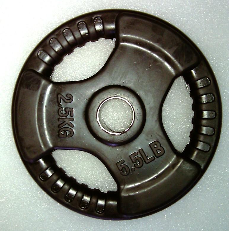 Foto Krangewicht 2.5 Kg 30mm Bohrung Vollflächig gummiert