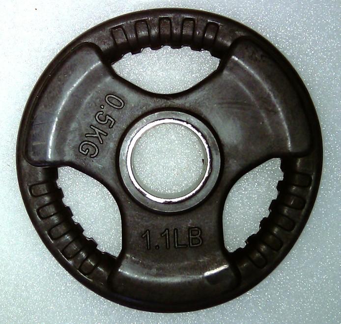 Foto Krangewicht 0,5 Kg 30mm Bohrung Vollflächig gummiert