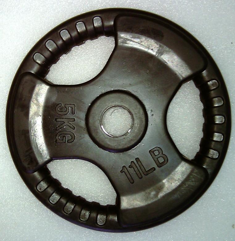 Artikelfoto 1 Krangewicht 5 Kg 30mm Bohrung Vollflächig gummiert