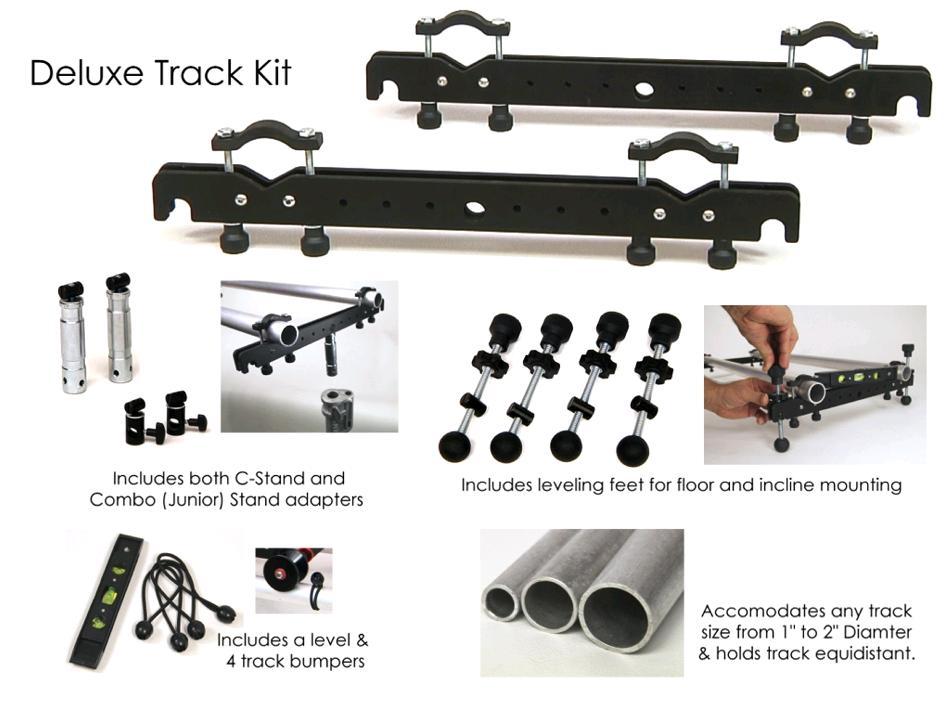 Artikelfoto 1 EZFX EZ-Slider Deluxe Track Kit verwandelt universelle Rohre in Tracks