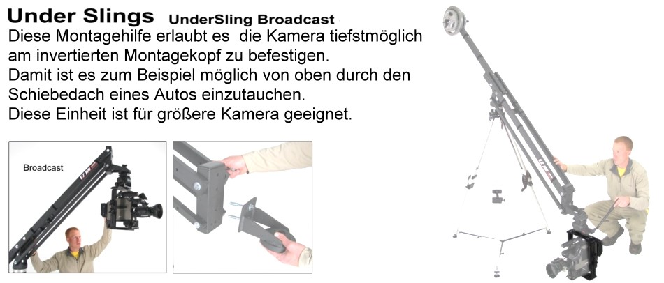 Foto EZFX UNDERSLING - Broadcast Kamerakäfig für bodennahe Aufnahmen