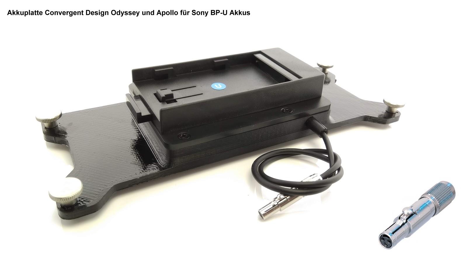 Artikelfoto 1 FineVideo Sony BP-U Akkuplatte passend zu Convergent Odyssey Apollo CD-OD-SU