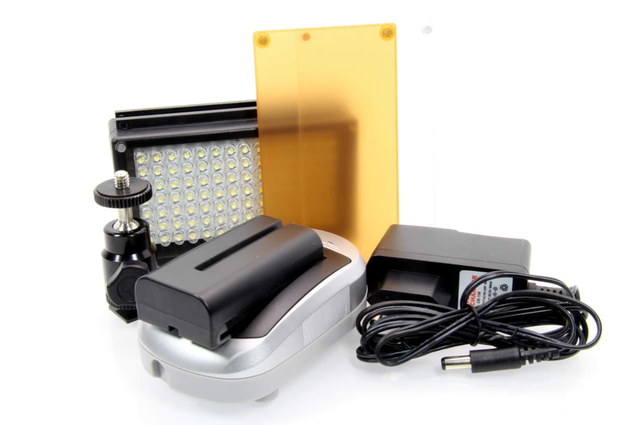 Artikelfoto FineVideo LED Videolicht SET LED98A für Foto und Video dimmbar
