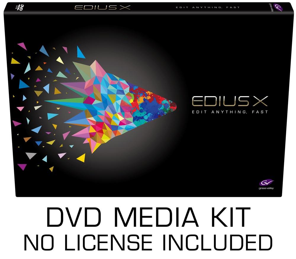 Artikelfoto 1 Grass Valley EDIUS X Media Kit - keine Lizenz