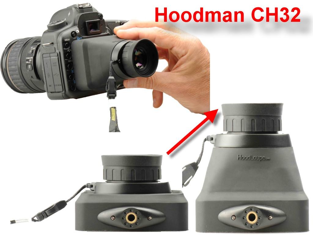Artikelfoto Hoodman CH32 - Hoodloupe 3.2 Compact - Sucheraufsatz für Kameras