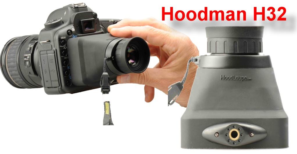 Artikelfoto Hoodman H32 Sucheraufsatz für 3.2 Zoll Foto und Video Suchermonitore
