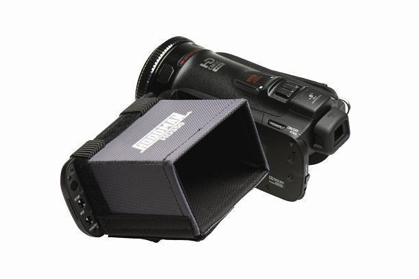Artikelfoto 1 Hoodman HD350 VIDEO Sonnenschutzblende für 3.5 Zoll Monitore und Sucher 16:9