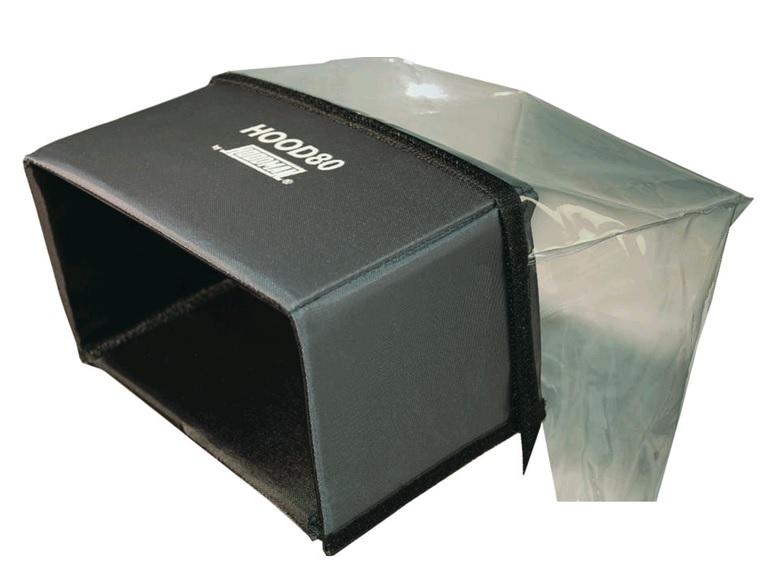 Artikelfoto 1 Hoodman BTLH80 Hood80 Blendschutz Regenschutz für 8 Zoll Monitore