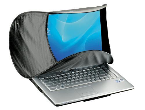 Foto Hoodman HOODPC Sonnenschutzblende für Laptops 14 bis 16 Zoll