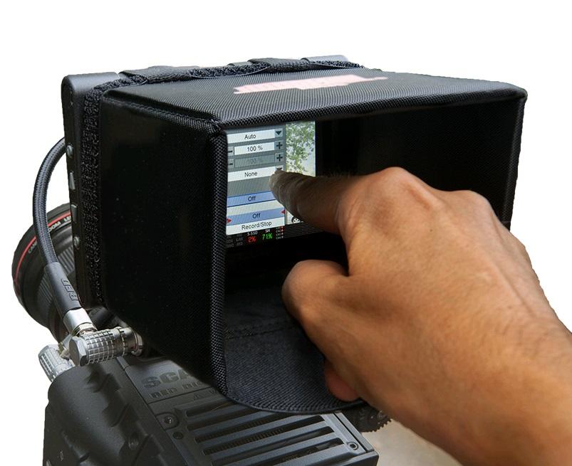 Artikelfoto Hoodman HRT5 LCD Sonnenblende Blendschutz für RED 5 Zoll Touch Monitor
