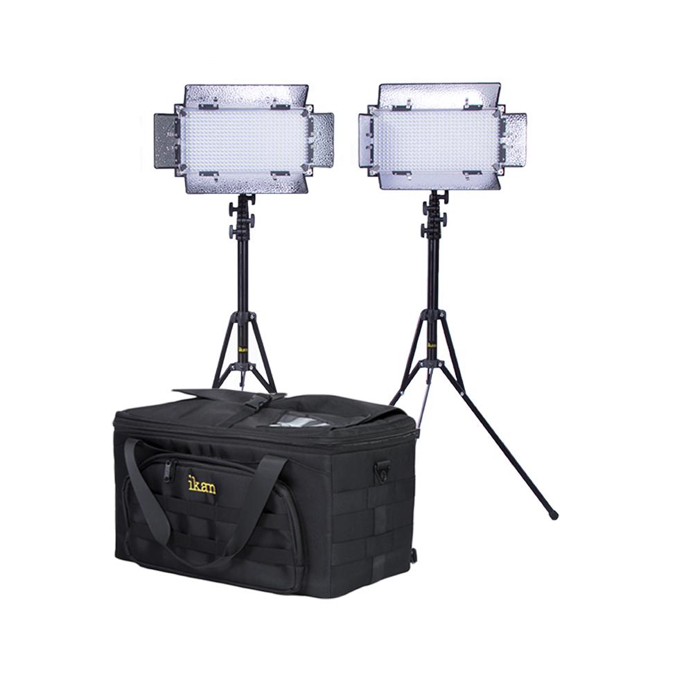 Artikelfoto IKAN Lichtset mit 2 x IB508-v2 Bi-color LED Studio Licht