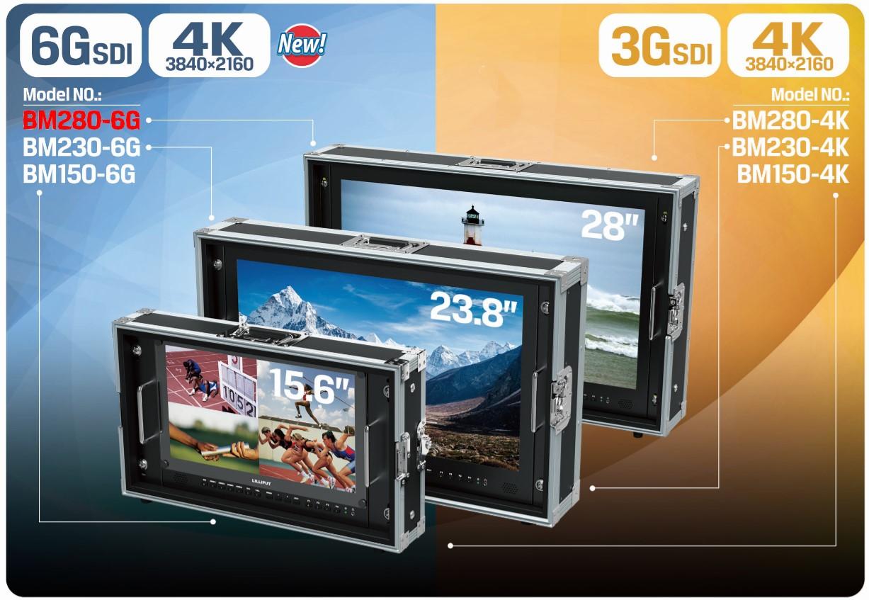 Foto Lilliput 28 Zoll 6G-SDI 4K Monitor mit 4 x HDMI VGA bis 3840x2160 50Hz BM280-6G