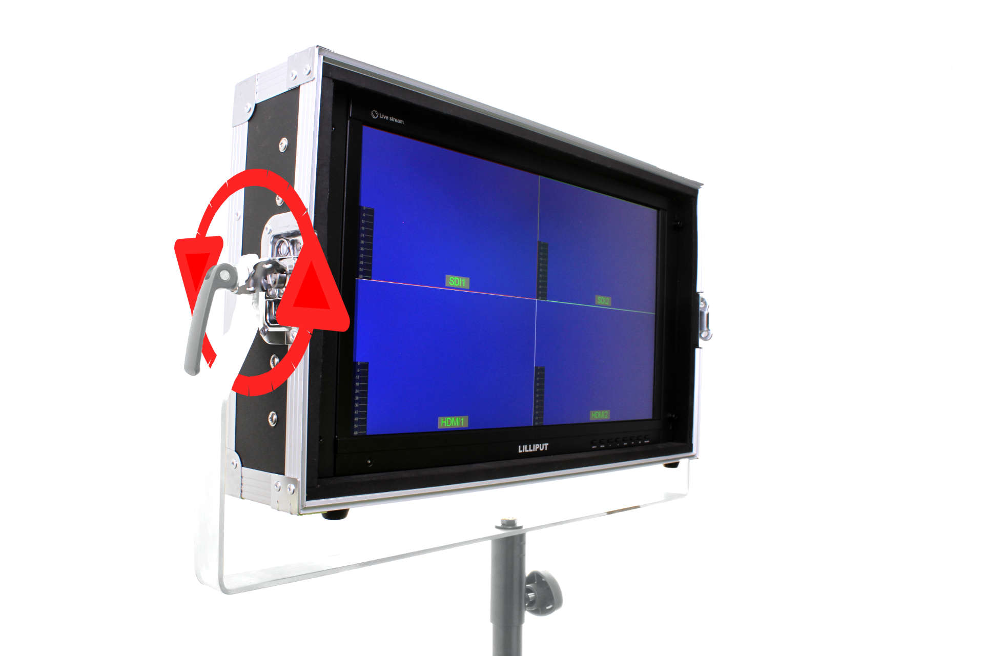 Artikelfoto 1 Lilliput PVM220S-FC 21.5 Zoll PRO SDI Monitor mit Flightcase