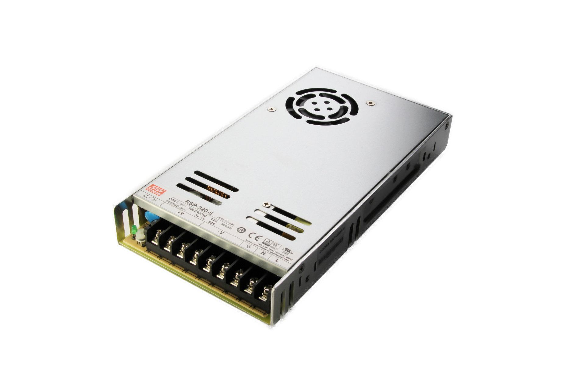 Artikelfoto 1 Netzteil Meanwell 5 Volt 320 Watt 60 Ampere RSP-320-5