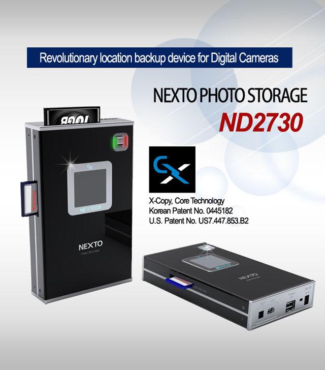 Artikelfoto Festplatte Nextodi ND2730 USB eSATA mobiler Foto Video Speicher