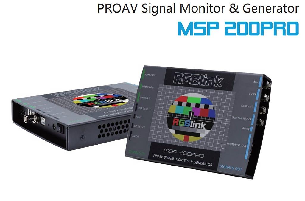 Artikelfoto RGBLink MSP 200PRO Testmuster Generator HDMI SDI DVI VGA FBAS MSP200PRO