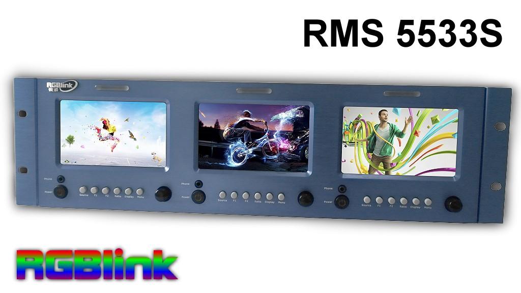 Artikelfoto RGBLink RMS 5533S LCD Rack Monitor 3 x 5 Zoll HD Sondermodell