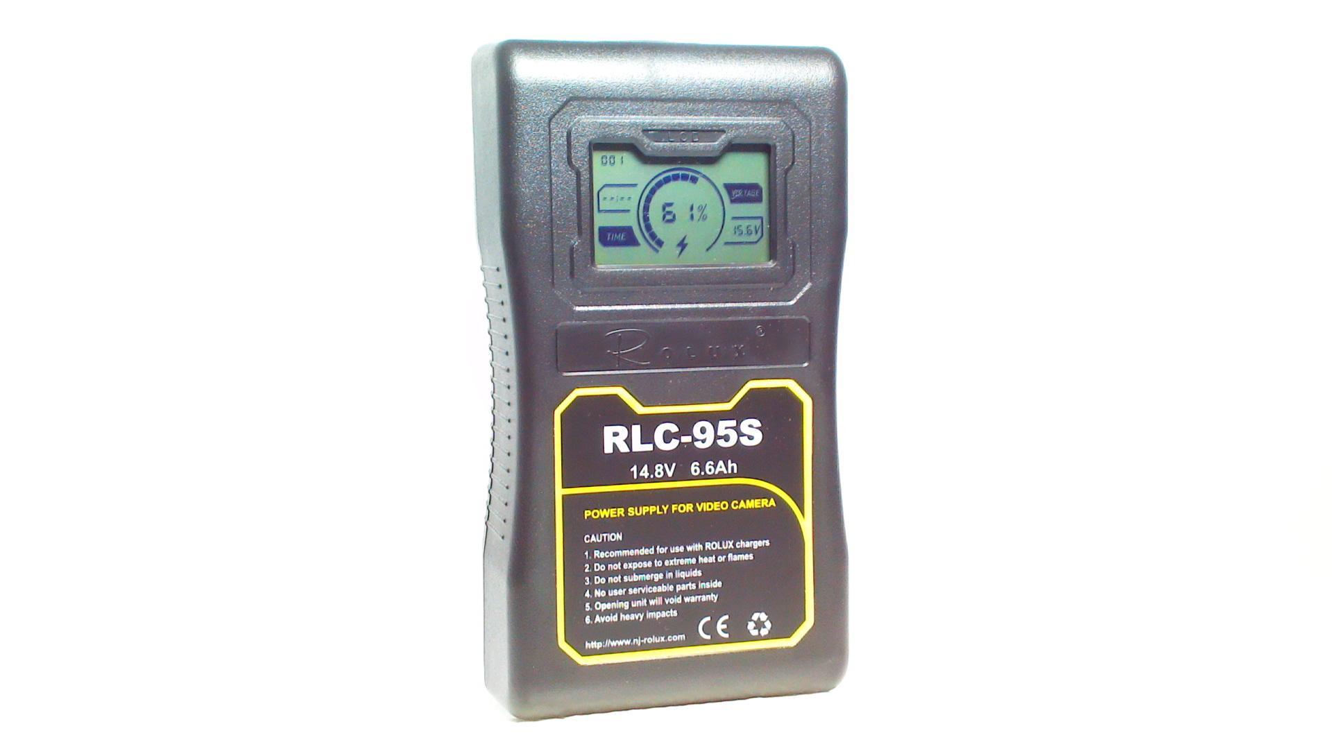 Artikelfoto ROLUX RLC-95S 95Wh 14.8V Li-Ion Akku V-Mount mit LCD Display