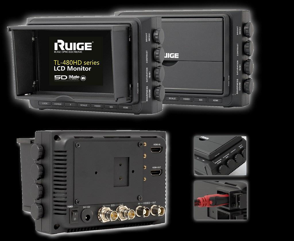 Artikelfoto 1 RUIGE HD Kontrollmonitor TL-480HDC