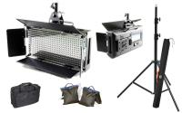Artikelfoto 22 FineVideo LED Flächenleuchte 5400K LED500AVL LCD Touch dimmbar 2er SET mit Stativ und Taschen