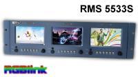 Artikelfoto 11 RGBLink RMS 5533S LCD Rack Monitor 3 x 5 Zoll HD Sondermodell