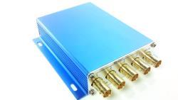 4 fach 3G SDI Verteiler Verstärker mit Signalaufbereitung blue edition