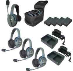 EARTEC Wireless Intercom UltraLITE HD Mix für 4 Personen HeadSets UL413-HD