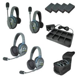 EARTEC Wireless Intercom UltraLITE HD Mix für 4 Personen HeadSets UL422-HD