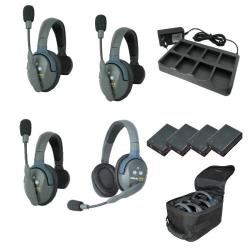 EARTEC Wireless Intercom UltraLITE HD Mix für 4 Personen HeadSets UL431-HD